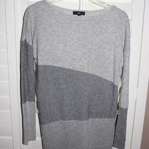 Fate Three Tone Gray Sweater
